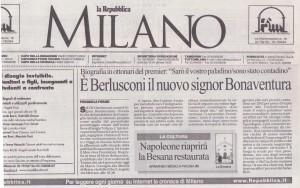 Recensione la Repubblica edizione di Milano